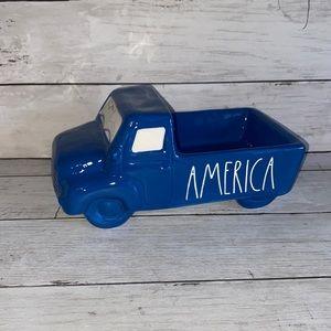 Rae Dunn USA blue truck farmhouse